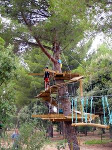 Accrobranches au parc de Figuerolles