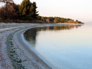 Plage de Figuerolles, étang de Berre